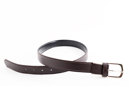 Black leather belt.