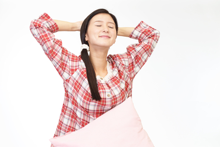 in pajama: Woman in pajama