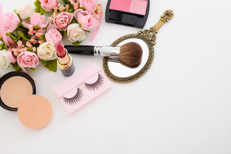 face close up: Cosmetics image Stock Photo