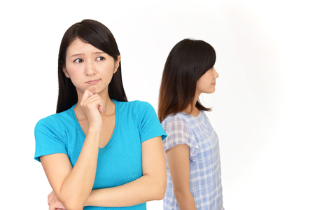 bother: Angry women Stock Photo