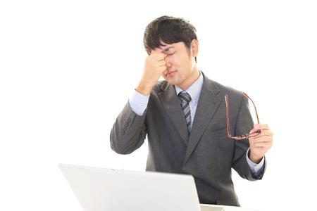tired businessman: Tired businessman