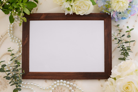 a signboard: Wooden signboard Stock Photo