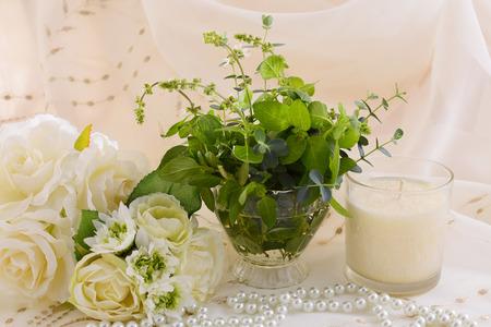 aromatherapy candle: Aromatherapy candle Stock Photo