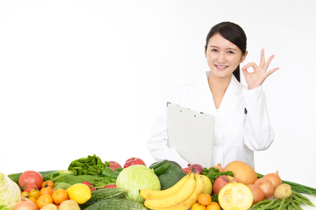 public welfare: A smiling registered dietitian Stock Photo