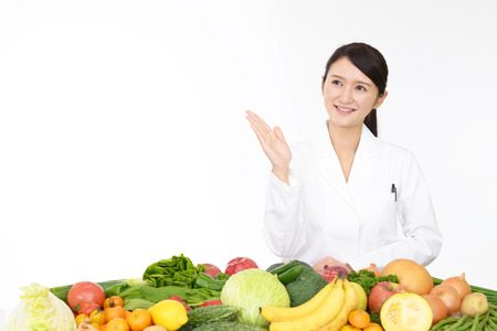 registered: A smiling registered dietitian Stock Photo
