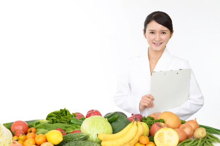 A smiling registered dietitian Stok Fotoğraf