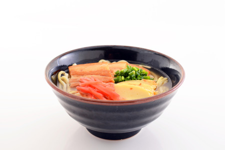 boned: Okinawa soba Stock Photo