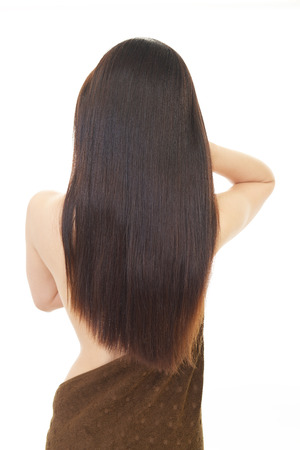 bodypart: Woman with beautiful long hair