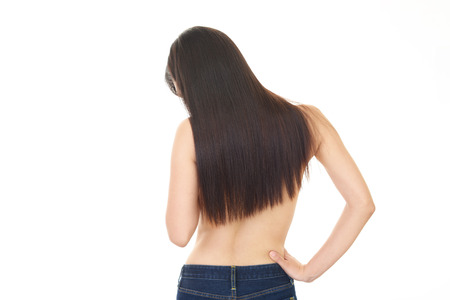 bodypart: Back view of slim woman
