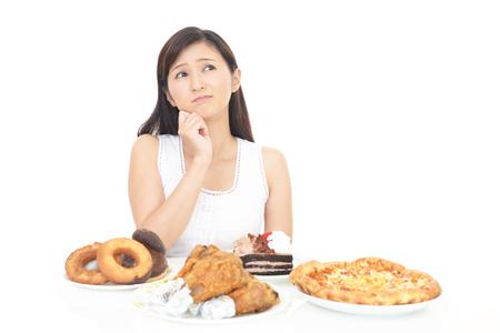 Frau auf Diät