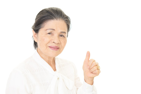 frailty: Smiling old woman