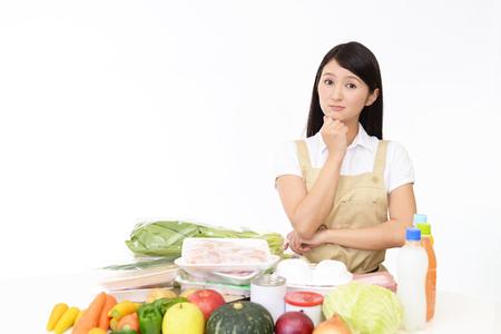 Worried Asian housewife