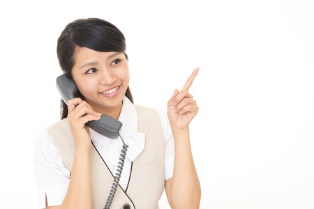 phone business: Business woman with a phone