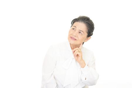 frailty: Portrait of beautiful aged woman Stock Photo