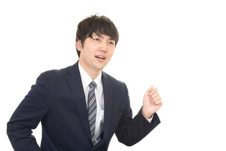 no rush: Busy businessman running