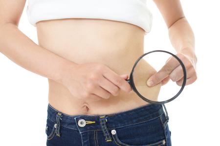 Woman on diet Reklamní fotografie - 58194946