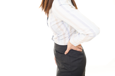 low back pain: The woman who is troubled with low back pain