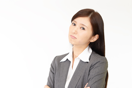 Woman who is angry Stock Photo