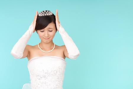 uneasy: Uneasy bride Stock Photo