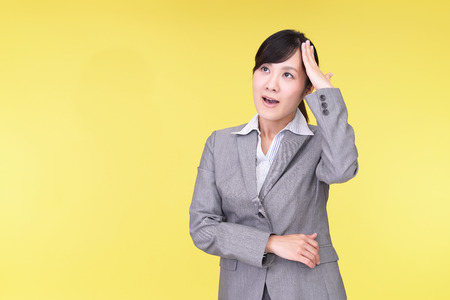 anaerobic: Disappointed Asian business woman