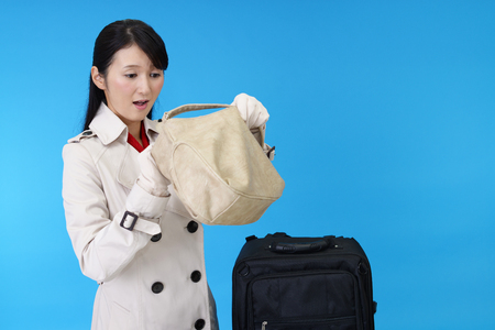 Woman who forgot something Stock Photo