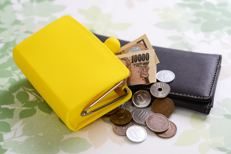Geld met portemonnee