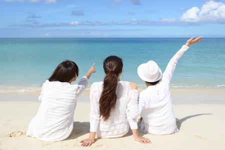 Women enjoy the sun.