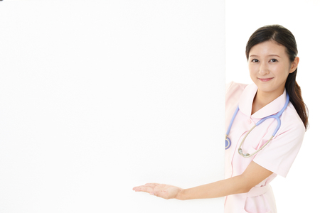 Smiling female nurse Standard-Bild