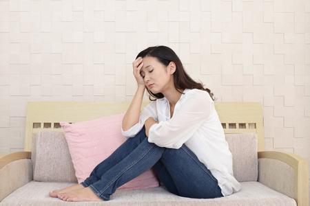 Woman in depression Stockfoto