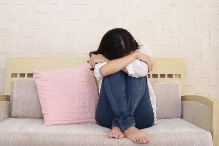 Woman in depression Standard-Bild