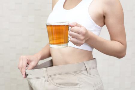 Mujer acertada en la dieta