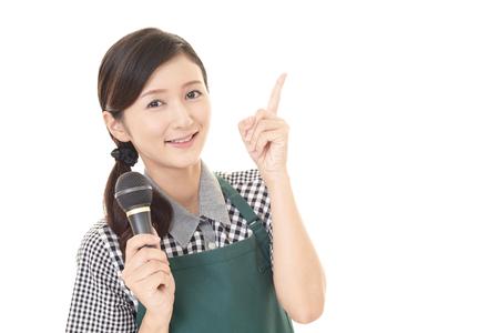 A smiling waitress Stock Photo