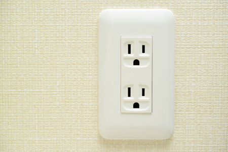 Socket on the wall.