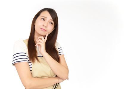 Woman who is worried Stock Photo