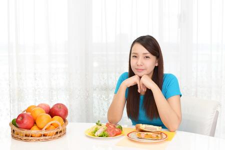 Woman having breakfast Reklamní fotografie