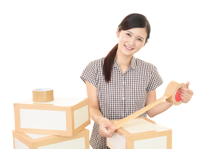 Woman to the moving Stock Photo