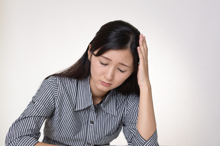 Woman in depression 写真素材