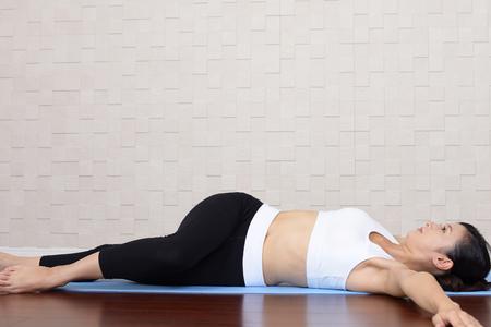 Beautiful woman doing exercises