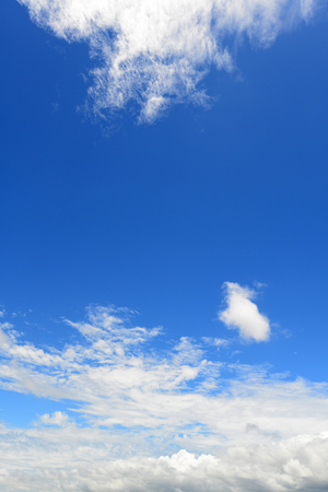 the firmament: Blue sky and clouds