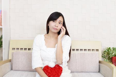 Broken-hearted woman 写真素材