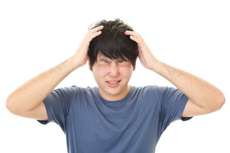Frustrated man Standard-Bild