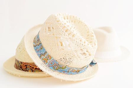 Chapeaux de paille élégant Banque d'images