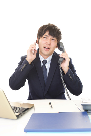 liveliness: Businessman with a phone