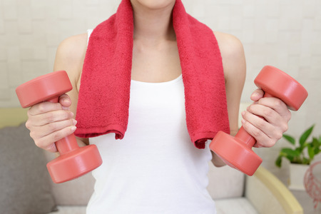 Woman who is exercising Stock Photo