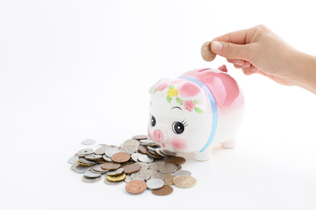affections: Piggy bank with coins