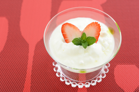 Healthy and delicious white yoghurt