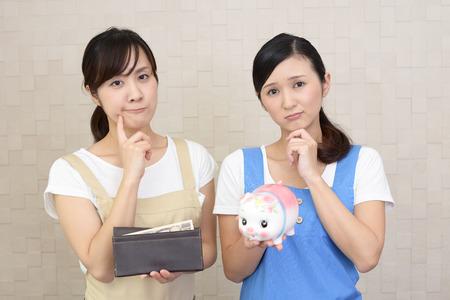 Asian housewives Standard-Bild
