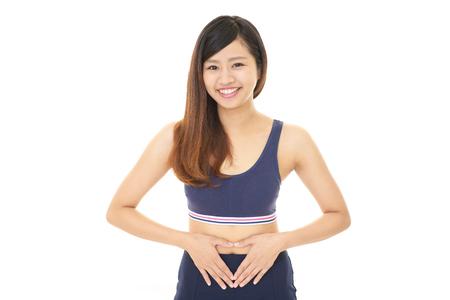 Successful woman on diet Standard-Bild