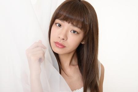 salon: Attractive Asian woman
