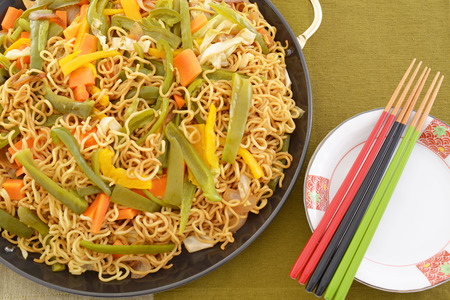 Japanese cuisine, noodles fried Yakisoba